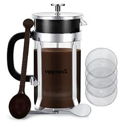 Zzanggu French Press Espresso Coffee Tea Maker Heat Resistan