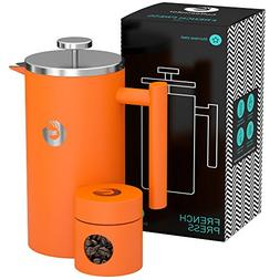 french press maker double filter