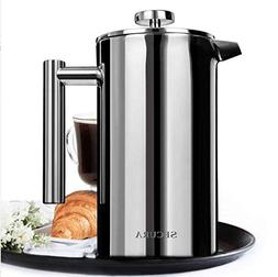 Secura 1500ML French Press Professional Rust Proof Coffee Ma