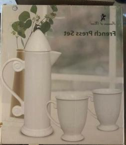 Francois et Mimi - French Press Set - 3 Piece Set Mugs and P