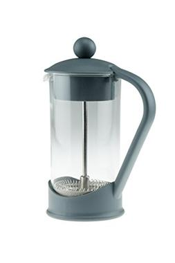 French Press Single Serving Gray Colored Coffee Maker by Cle