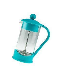 French Press Single Serving Teal Colored Coffee Maker by Cle