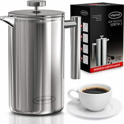 french press ss double wall cafetiere 8