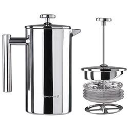 SONGMICS Stainless Steel French Press Coffee Maker 8 Cup 34o