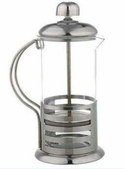 French Press with Elegant Stripe Design - Brew Fresh Coffee