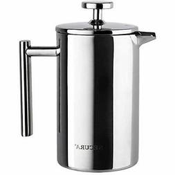 Secura French Presses SFP-17DS Stainless Steel Coffee Maker