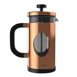 bonVIVO GAZETARO I Copper French Press Coffee Maker, Coffee