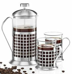 Gourmia GCM9830 French Press Coffee Maker Set 600 ml French