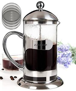 Secura 1000ML Glass French Press Coffee Espresso Maker with