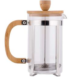 TableTop King 20 oz. Glass/Wood French Coffee Press