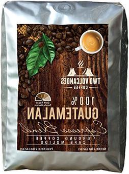 Two Volcanoes Ground Coffee - Dark Roast Espresso Blend - 2