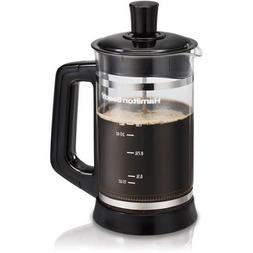 Hamilton Beach French Press with Cocoa Attachment, Black