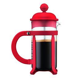 Bodum Java French Press Coffee Maker, 12 oz, Red