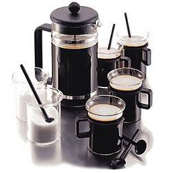 Bodum K1590-01 Bistro 12-Piece Gift Set with 8-Cup Coffee Pr