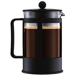 Bodum Kenya Black French Press Coffee Maker, 12 Cup