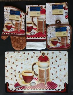 Kitchen Coffee Linen & Placemats French Press Theme, Select