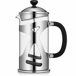 KONA French Press Coffee Maker Large  1000ml Stainless Steel
