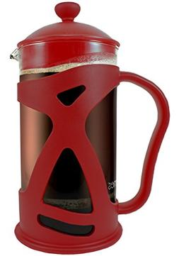 KONA French Press Red Coffee Maker With Reusable Stainless S