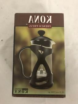 Kona French Press Small Single Serve Coffee and Tea Maker Bl