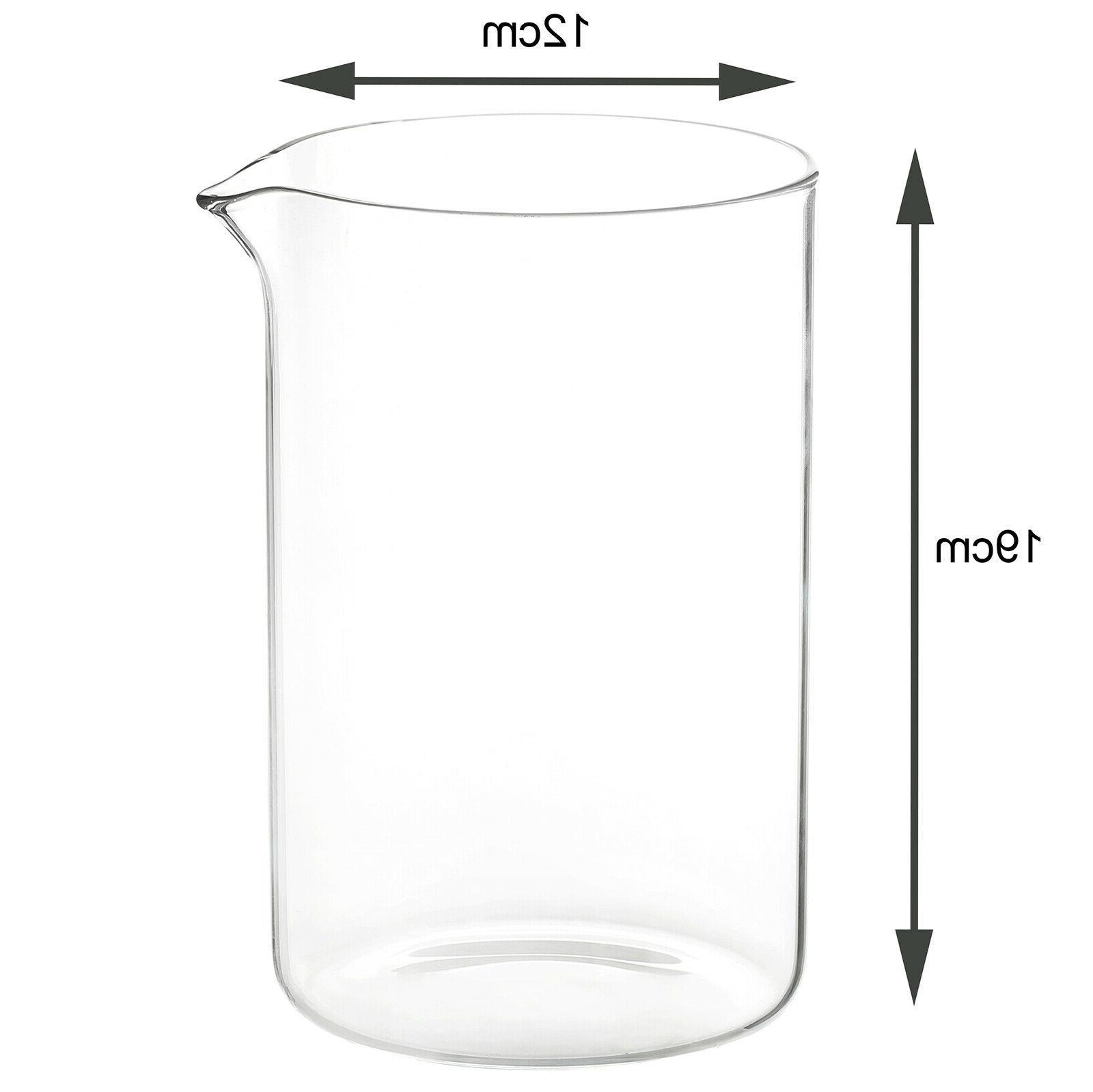 1 5l coffee maker cafetiere glass jar