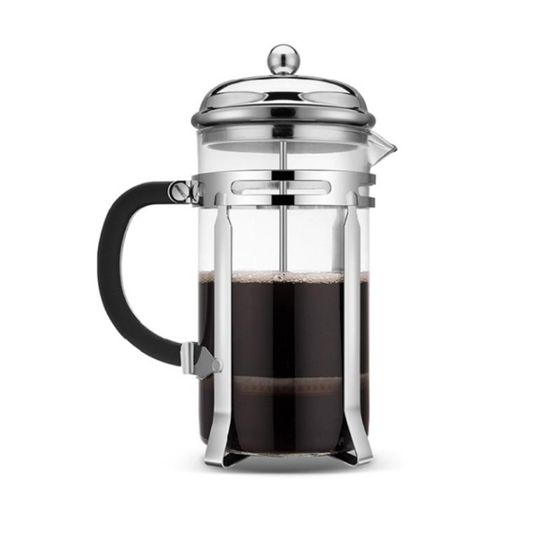 1000ml French Press Coffee Maker Tea Pot Plunger Glass Stain