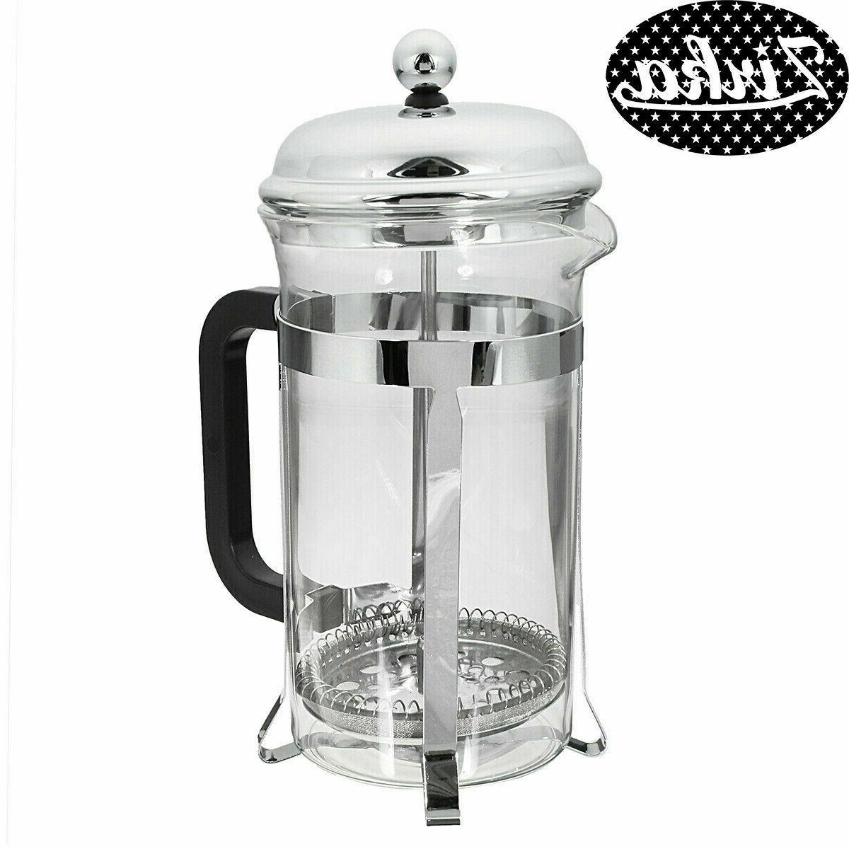 32OZ Stainless Steel French Cafetiere Tea