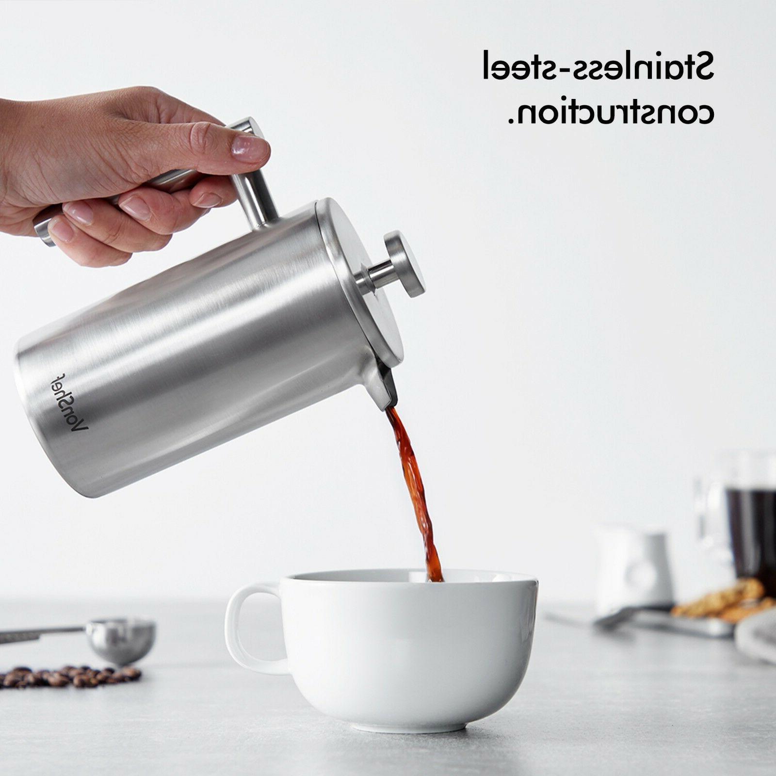 VonShef Press Double Steel Coffee