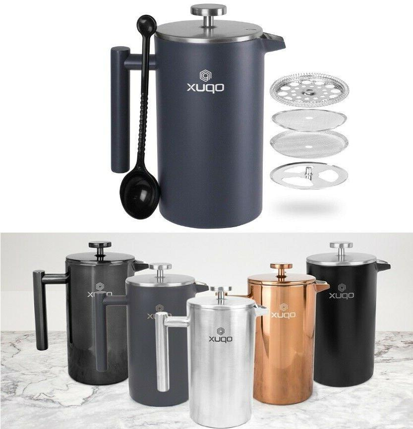 32oz double wall stainless steel french press