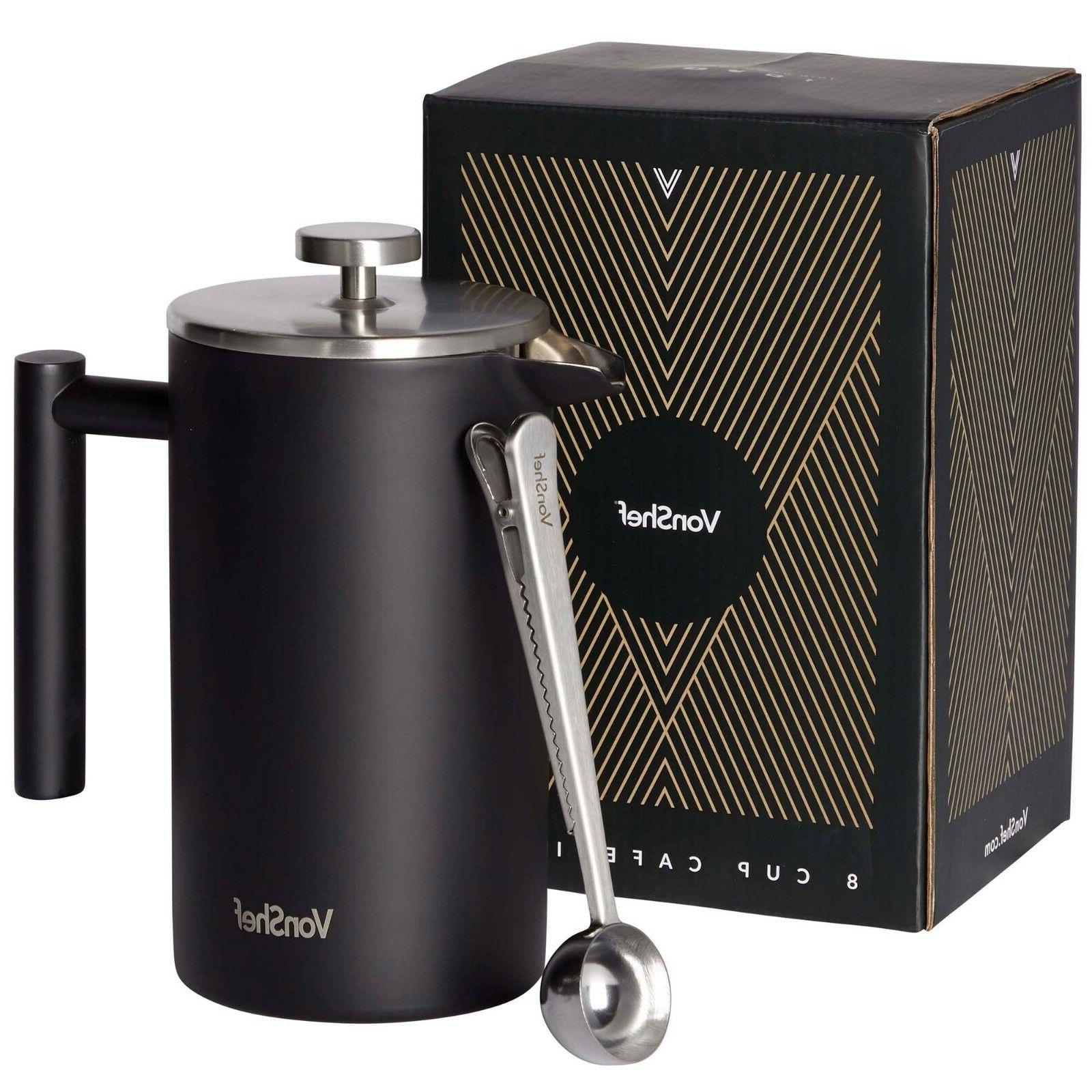 34oz 12 cup stainless steel french press