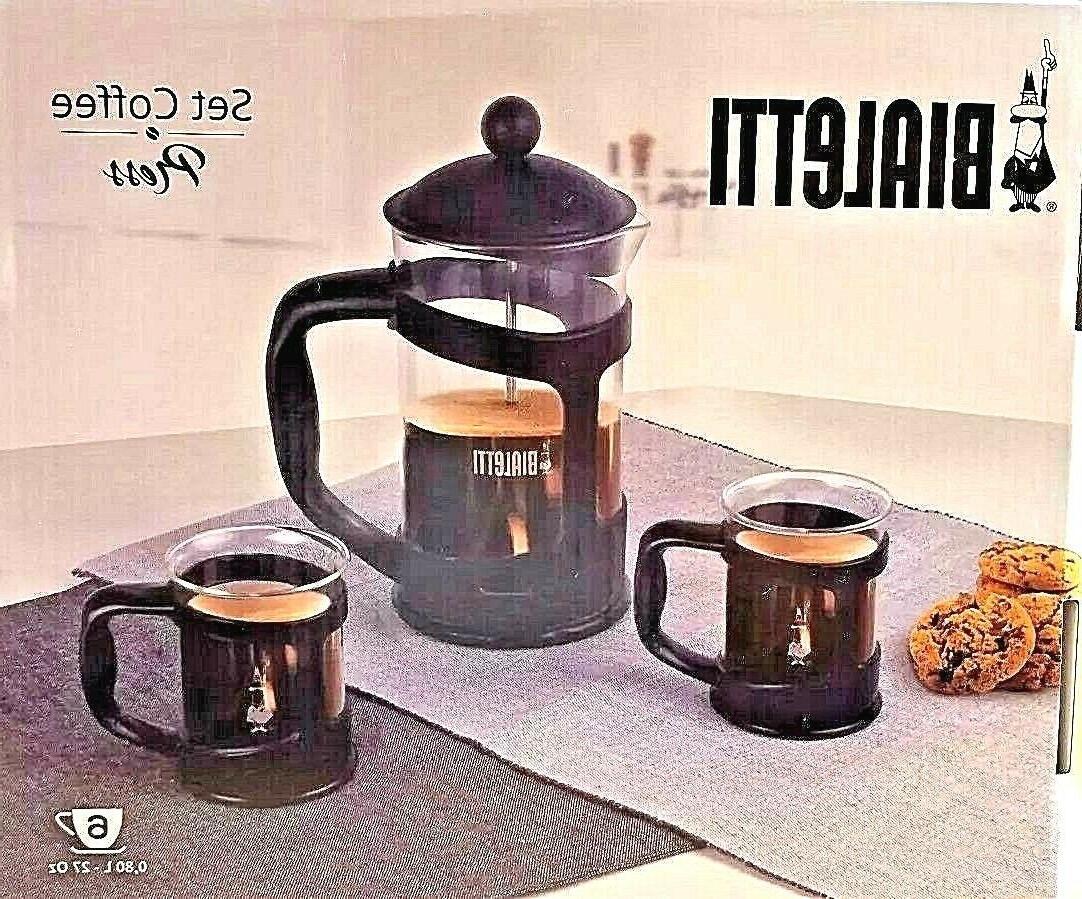 BIALETTI 6 COFFEE Piece Set NEW
