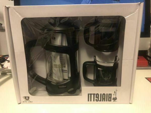 Bialetti - 6 Cup French Press - 3 Piece Set - New in Box
