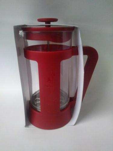 Bialetti 8 Cup Coffee Press. Red New