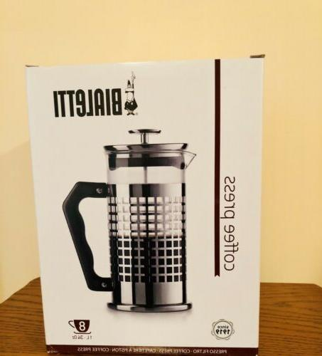 8 cup premium french coffee press glass