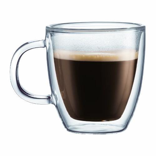 Bodum BISTRO Coffee Mug, Double-Wall Insulated Glass Espress