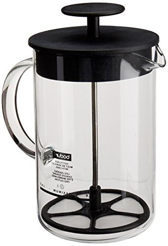 Bodum Latteo Milk Frother with Glass Handle.25 Liter, 8 Ounc