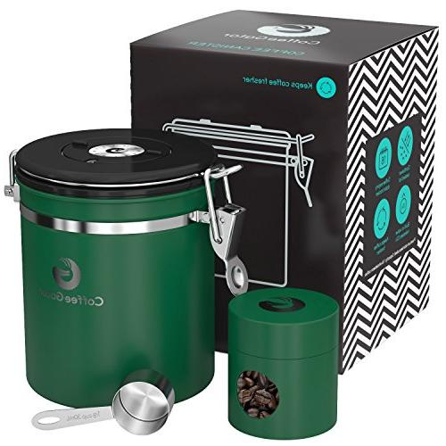 Coffee Gator Stainless Steel Container - Canister with Trave