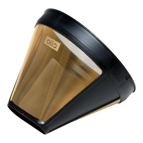 Frieling/Cilio #4 Cone Coffee Filter, 24 Karat Gold Plated
