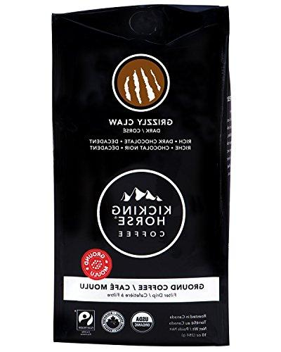 Kicking Horse Coffee, Ground, Grizzly Claw, 10 Ounce