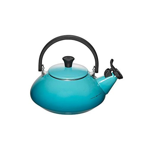 Le Creuset Enamel-on-Steel Zen 1-2/3-Quart Teakettle, Caribb
