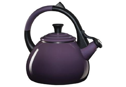 Le Creuset Enameled Steel Oolong Tea Kettle, 1.6-Quart, Cass