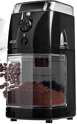 Secura SCG-903B Automatic Electric Burr Coffee Grinder Mill,
