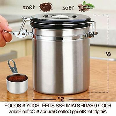 Beans And Coffee Grounds Container Coffee Gator Stainless St