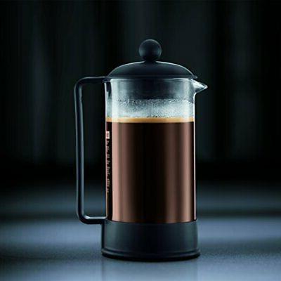 Bodum 1543-01US Brazil Press and Tea Maker, 12 Black