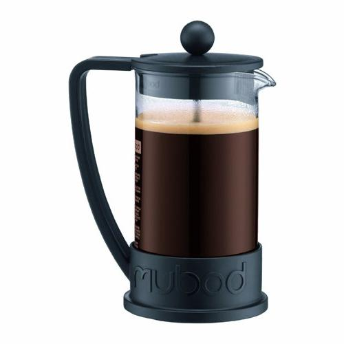 Bodum New Brazil 3-Cup French Press Coffee Maker, Black