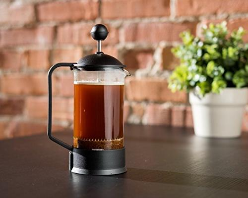 Brillante Small 3 Cup French Coffee with 12 Coffee and Tea BR-CP2-350