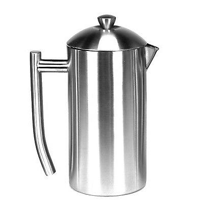 brushed stainless steel french press coffee maker