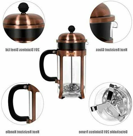 Kuyal Cafetière, Coffee Maker for Travel Home Office 34 / 8 cups