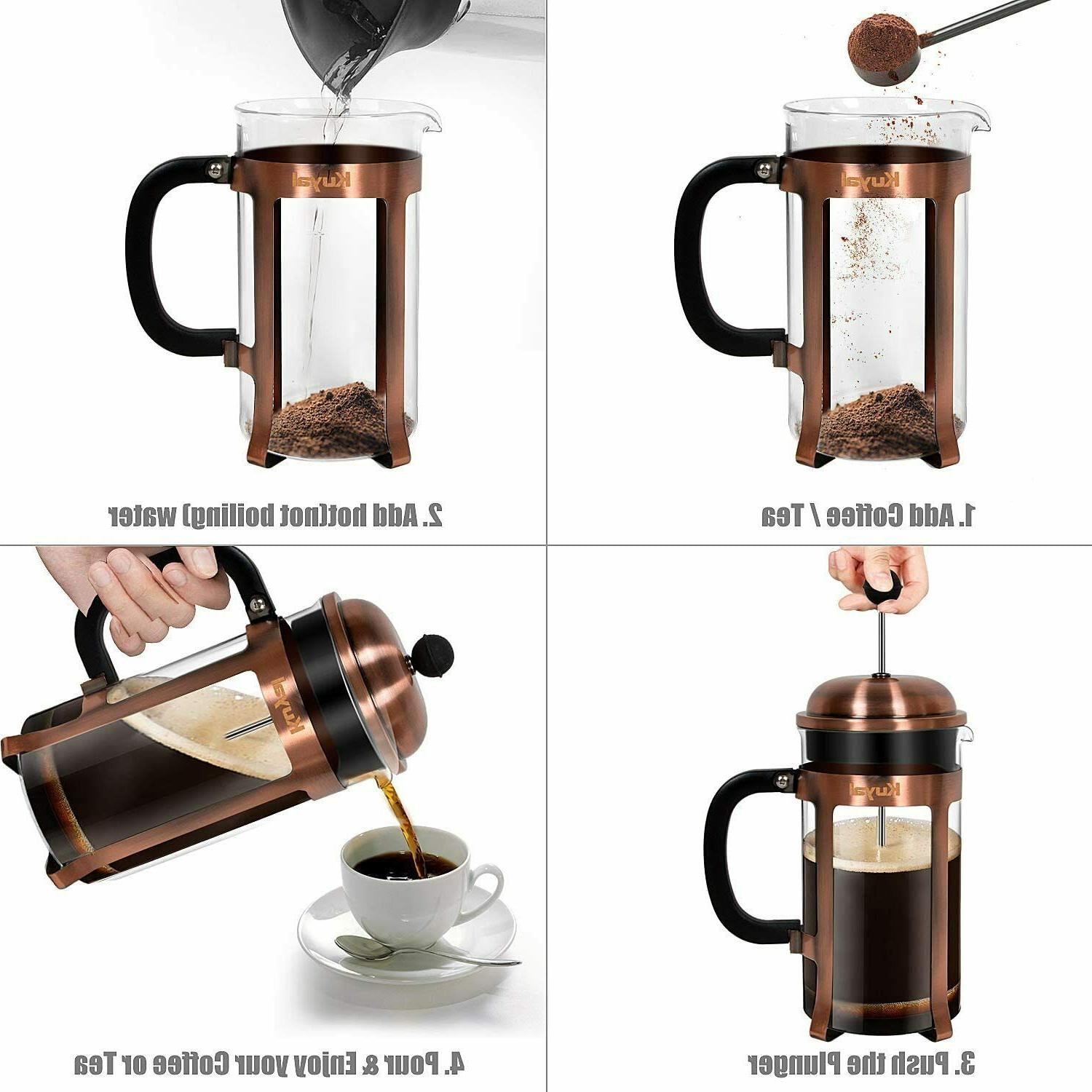Kuyal Cafetière, French Coffee Maker for Home 34