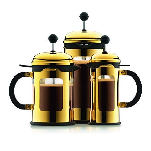 Bodum 3-Cup French Press Coffee 12-Ounce, Chrome