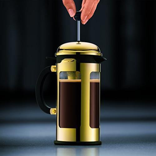 Bodum French Press 12-Ounce, Gold Chrome
